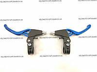 Тормозные ручки усиленные под три пальца, черно-синие, фото 1