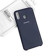 Силиконовый чехол на Samsung M20 Soft-touch Dark Blue