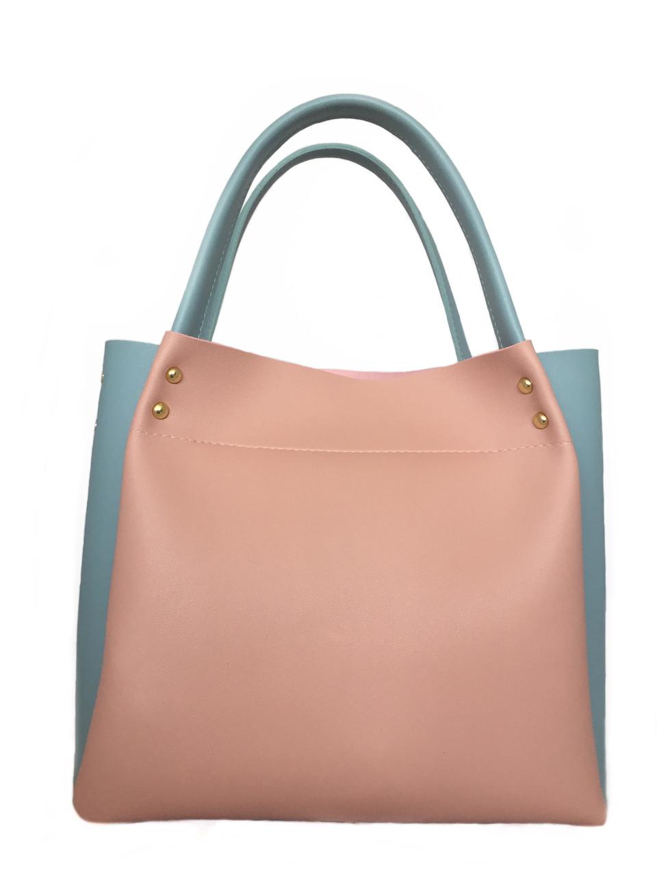 Сумка жіноча з екошкіри Betty Pretty рожево-блакитна 908X1596741873