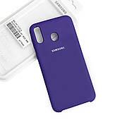 Силиконовый чехол на Samsung M20 Soft-touch Violet