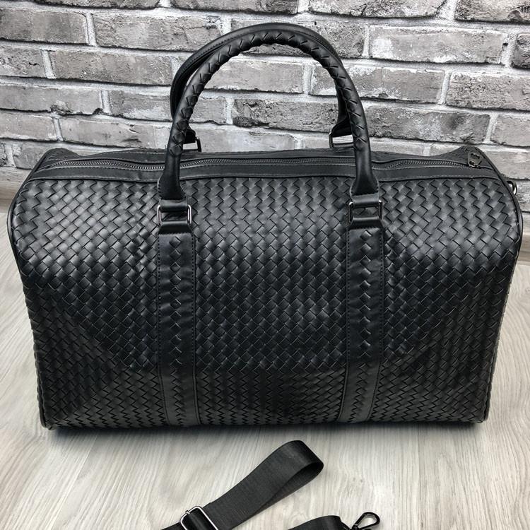 VIP дорожная сумка Bottega Veneta черная кожаная Люкс сумка Боттега Венета Трендовая Красивая реплика