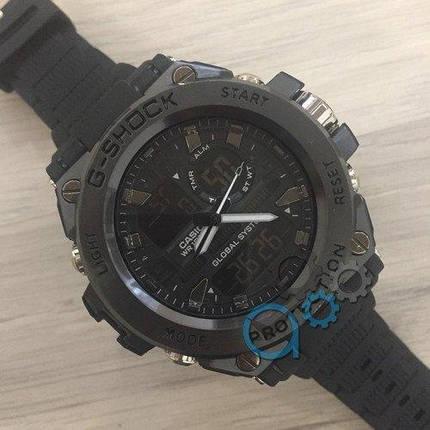 Мужские Часы Касио джи-шок Casi** GLG-1000 All Black \ Черный\ спортивные \ ремешок \ чоловічий годинник, фото 2