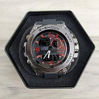 Мужские Часы Касио джи-шок Casio GLG-1000 Black \ Черный с красным\ спортивные \ ремешок \ чоловічий годинник