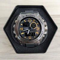 Мужские Часы Касио джи-шок Casio GLG-1000 Black \ Черный с золотом\ спортивные \ ремешок \ чоловічий годинник