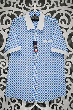 """Мужская рубашка в клеточку ткань """"Коттон"""" 44 размер норма, фото 2"""