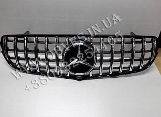 Решітка радіатора Mercedes GLC X253 стиль Panamericana GT (Black/Chrome)