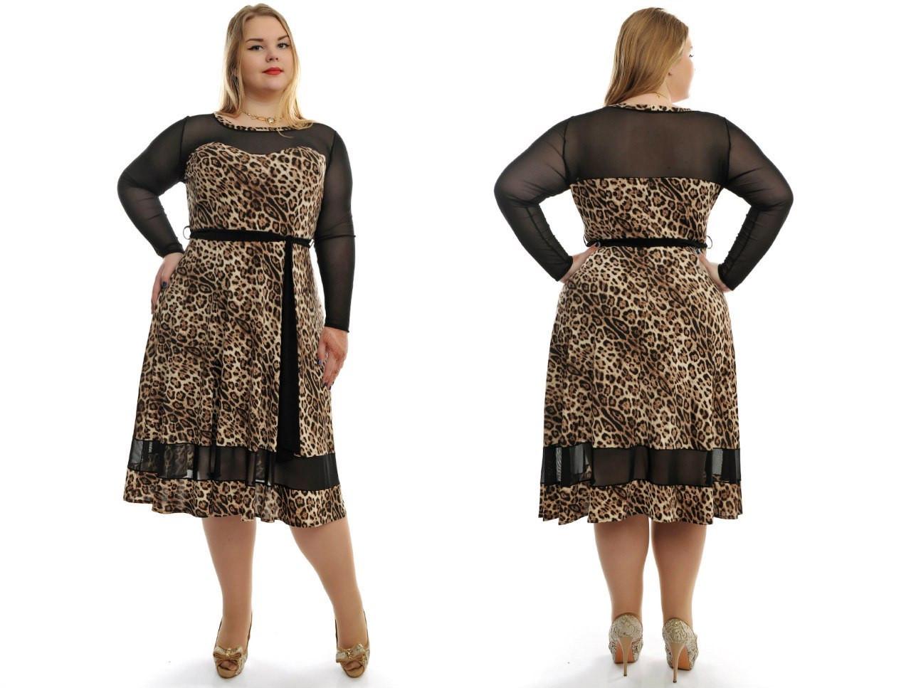 d30306640df Женское красивое платье больших размеров с сеткой №701 48-62 р