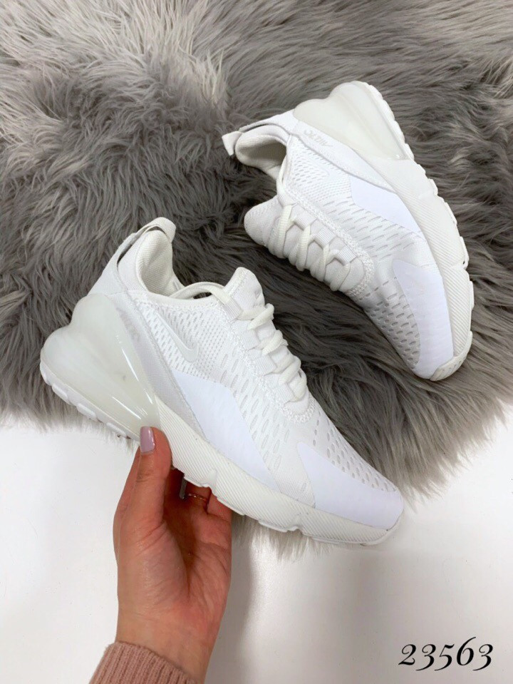 Кроссовки Nike Air Max 270 белые. Аналог