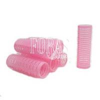 Розовые бигуди с липучками 6 шт в упаковке