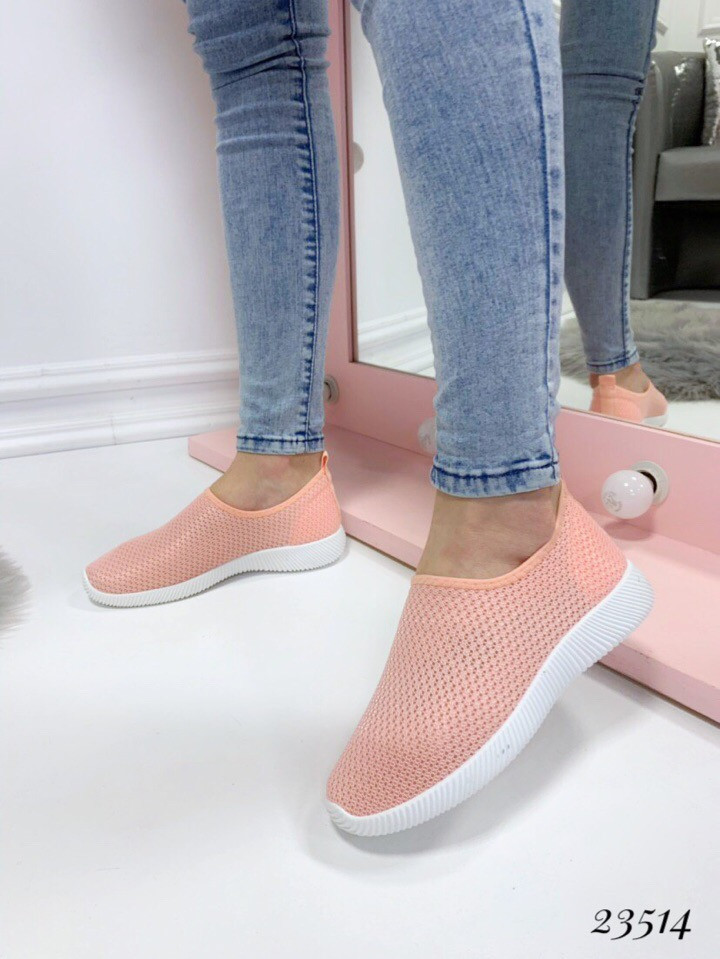 Слипоны-носочки СН сетка розовые
