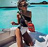 Женский слитный купальник с завязкой на одно плечо. КУ-5-0918, фото 3
