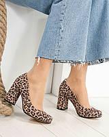 Туфли женские  с принтом лео, фото 1