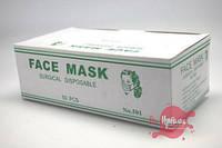Одноразовая маска-повязка для лица (зелёная), 50 шт