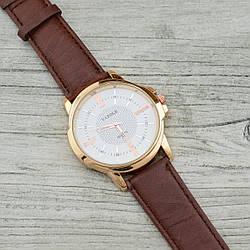 Часы G-108 диаметр циферблата 4.4 см, длина ремешка 19-23 см, коричневый цвет, позолота РО