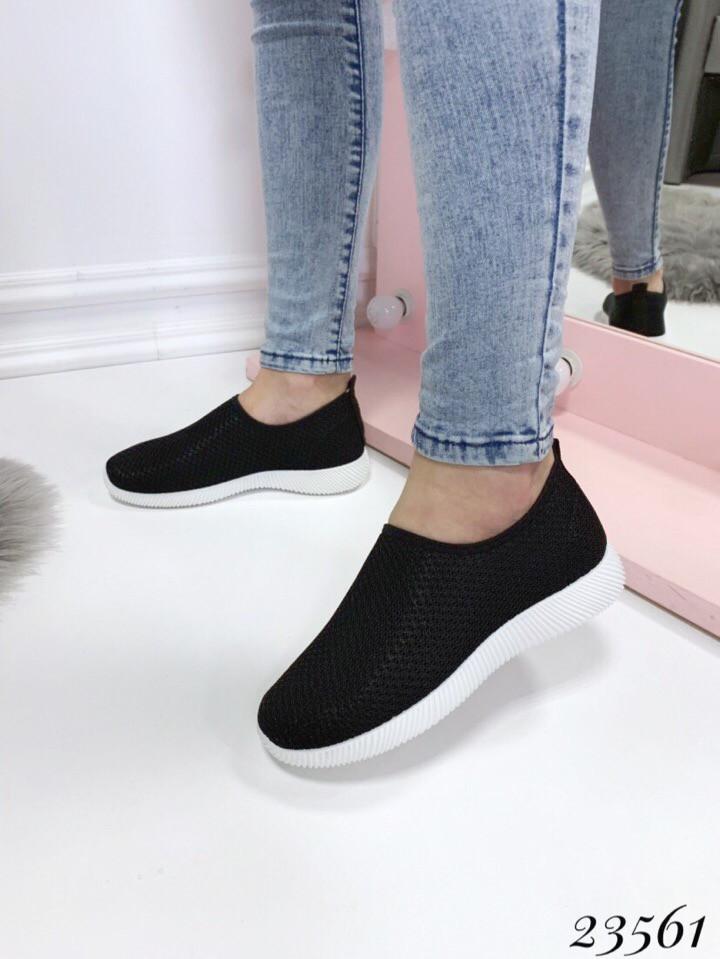 Слипоны-носочки СН сетка черные