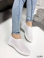 Слипоны-носочки СН сетка белые, фото 1