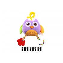 Мягкая игрушка подвеска на коляску Совунья, Biba Toys Сова, 4 функции, ВТ-Т-0083