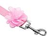 """Мягкая шлейка с поводком  """"Розовый цветок"""" для собаки, кошки. Одежда для  кошек, собак, фото 5"""