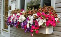 Балконний Ящик для квітів білий, фото 1