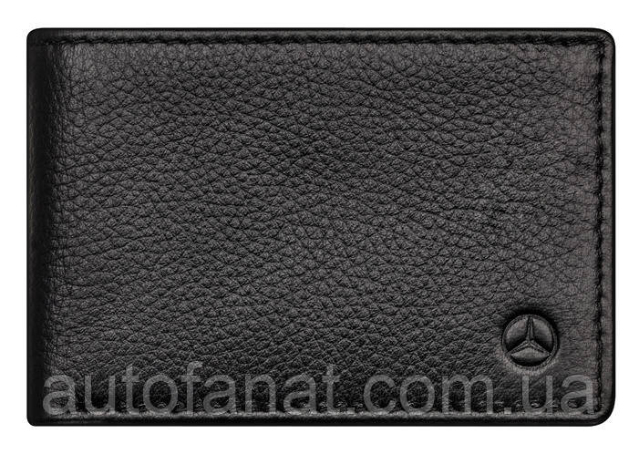 Оригинальные кожаное портмоне Mercedes-Benz Mini Wallet, Cowhide, Black, RFID Protection (B66953718)