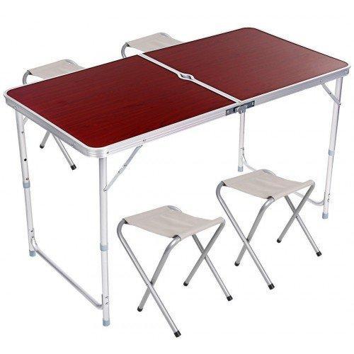 Стол складной для пикника + 4 стула + Подарок