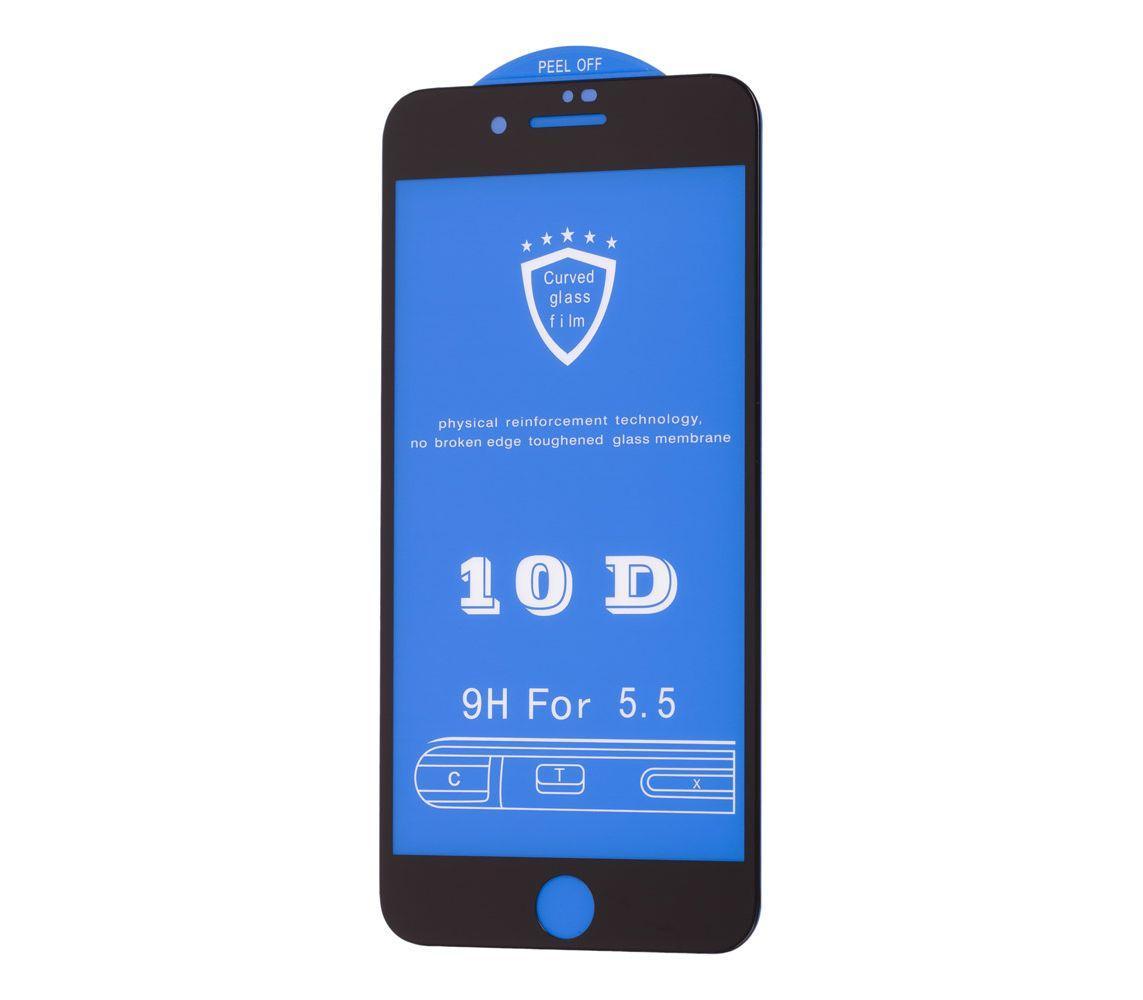 Защитное стекло 10D для iPhone 7 Plus black