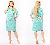 Нарядное женское платье с коротким рукавом Тонкая диагональ Размер 50 52 54 56 58 60 62 64 В наличии 5 цветов, фото 1