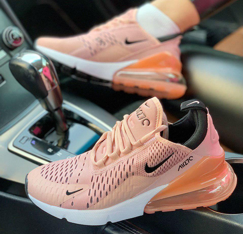 online store 04130 68039 Nike Air Max 270 Coral Stardust | кроссовки женские; летние; цвет персик  (светлый коралл)
