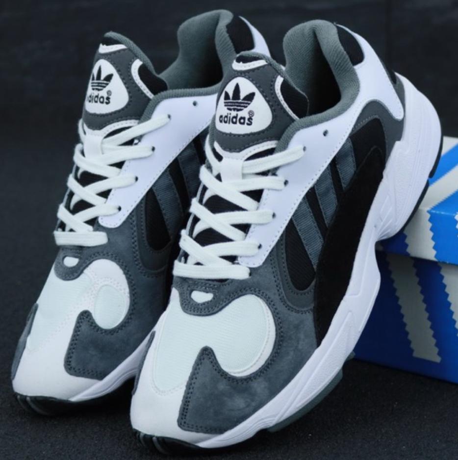 Мужские кроссовки Adidas Yung 1 Gray White