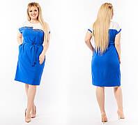 Женское нарядное платье Декорировано стразами Размер 50 52 54 56 58 60 62 64 В наличии 3 цвета, фото 1