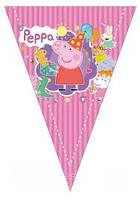 Гирлянда-треугольники  Свинка Пеппа 2 м