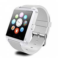 ☞Смарт-часы UWatch U8 White умные часы Bluetooth 1.5 дюйма microUSB цветной TFT металл управление камерой