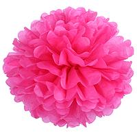 Набор бумажных помпонов 10 шт, большие 30 см, цвет розовый