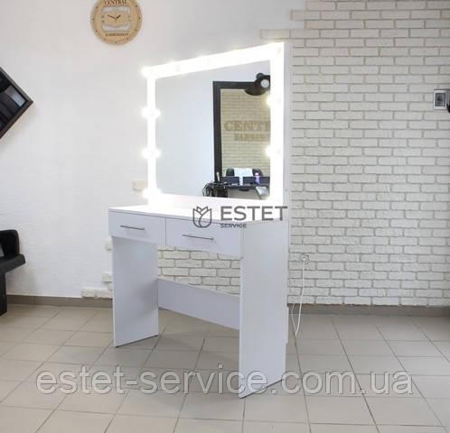 Рабочее место визажиста EMILY, зеркало на две шухлядки длинной 100см
