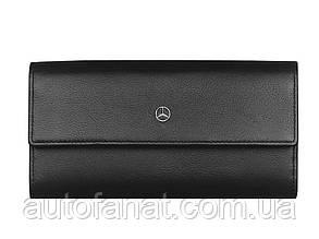Женский кожаный кошелек Mercedes-Benz Wallet, Black Leather, RFID Protection, by BREE (B66953734)