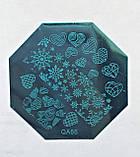 Пластина для стемпинга (металлическая) QA54, фото 2