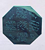 Пластина для стемпинга (металлическая) QA52