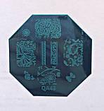 Пластина для стемпинга (металлическая) QA79, фото 2