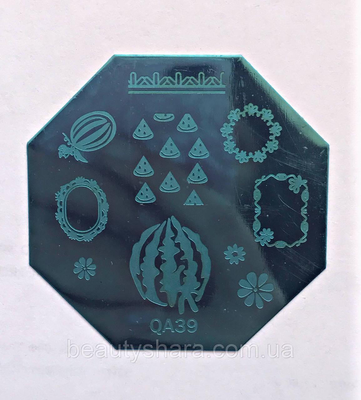 Пластина для стемпинга (металлическая) QA39