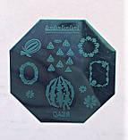 Пластина для стемпинга (металлическая) QA28, фото 2