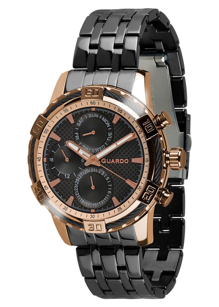 Чоловічі наручні годинники Guardo B01352(m1) RgBB
