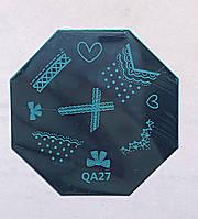 Пластина для стемпинга (металлическая) QA27