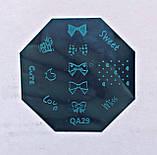 Пластина для стемпинга (металлическая) QA18, фото 3