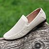 Туфли мокасины мужские летние кожаные бежевые (код 234) - туфлі мокасини чоловічі шкіряні літні бежеві