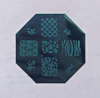Пластина для стемпинга (металлическая) QA4