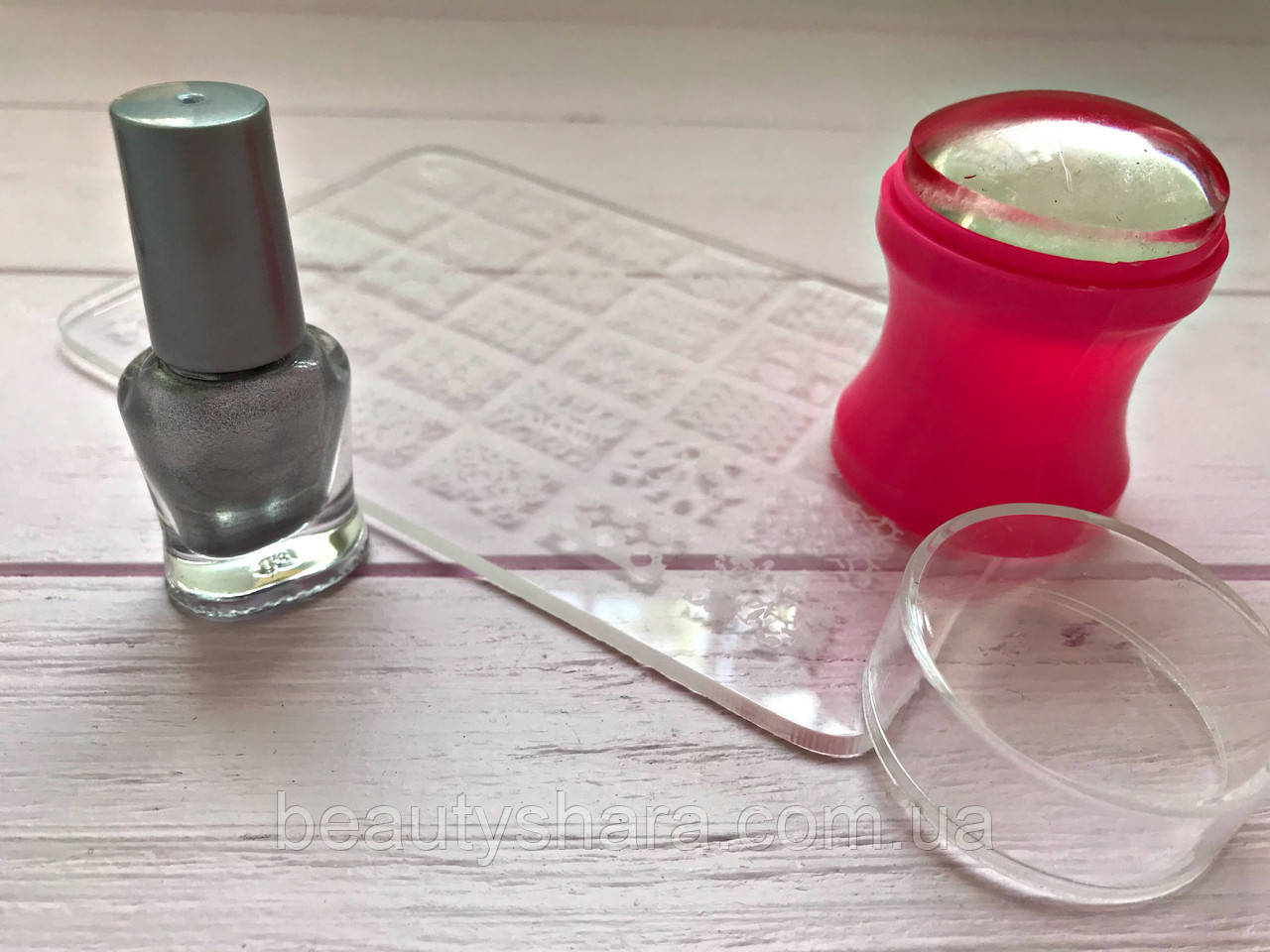 Стемпинг для ногтей + Пластина + Краска для стемпинга Набор