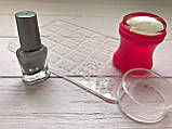 Стемпинг для ногтей + Пластина + 3 краски для стемпинга Набор, фото 3