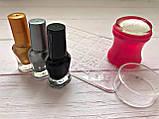 Стемпинг для ногтей + Пластина + 3 краски для стемпинга Набор, фото 4