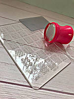 Стемпинг для ногтей +Пластина Набор