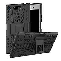 Ударопрочный чехол с функцией подставки Shield для Sony Xperia XZ1 / XZ1 Dual черный